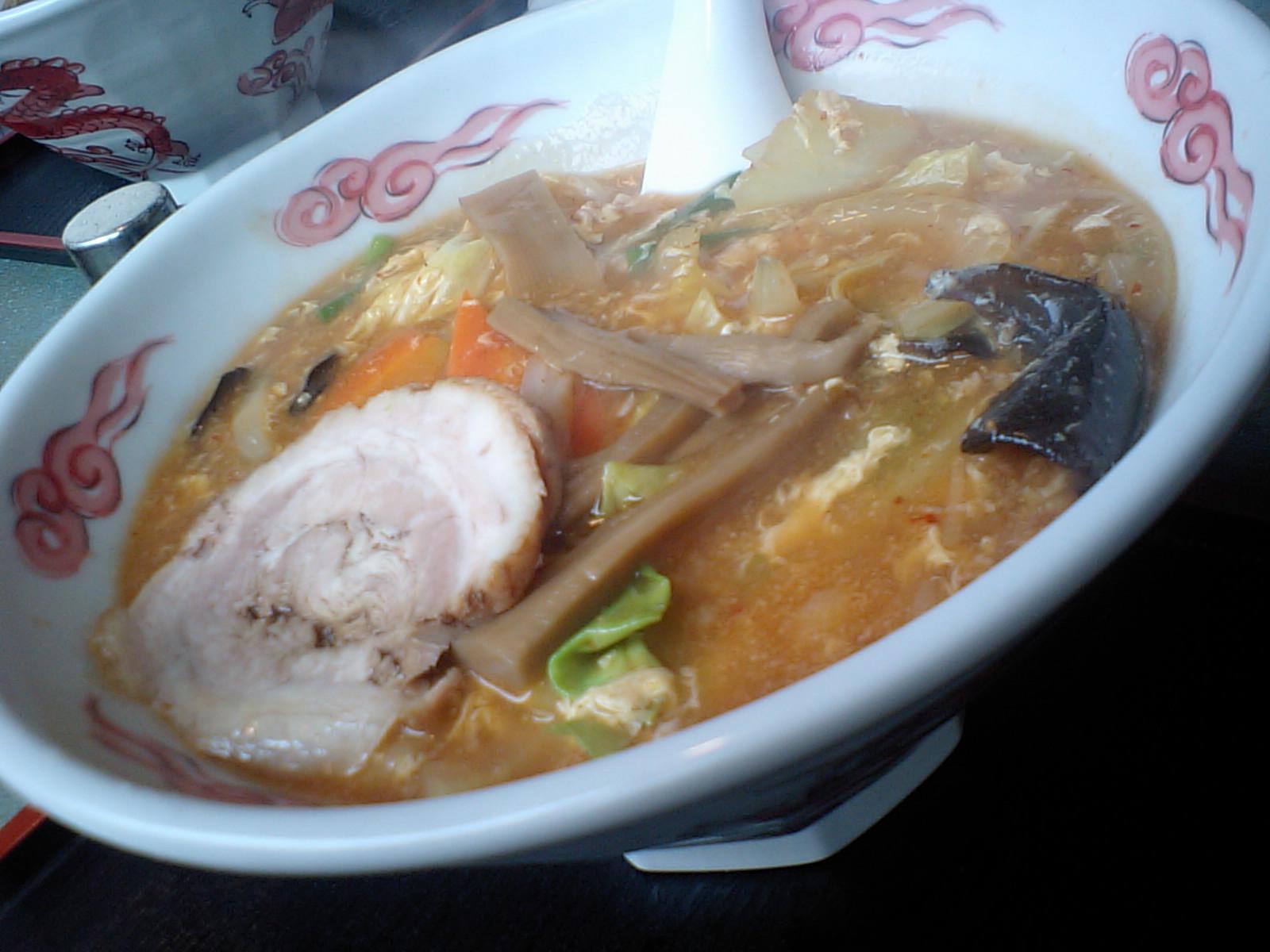 玉子とじタンタン麺
